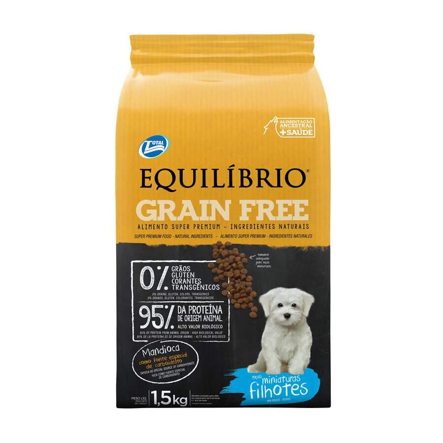 RaÇÃO Seca CÃEs Equilibrio Grain Free Filhotes Mini 1,5 Kg