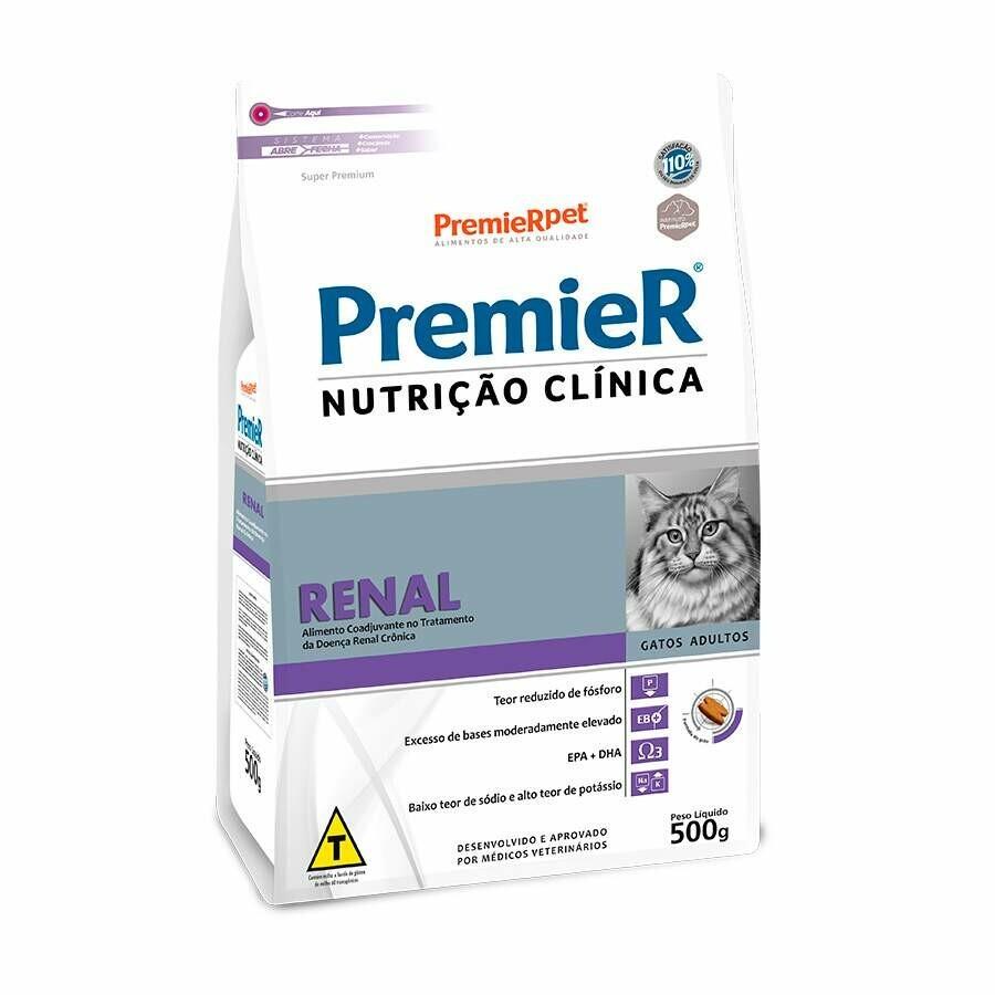 Ração Premier Nutrição Clínica Renal Gatos 500g