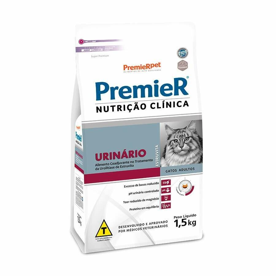 Ração Premier Nutrição Clínica Urinario Gatos 1,5kg