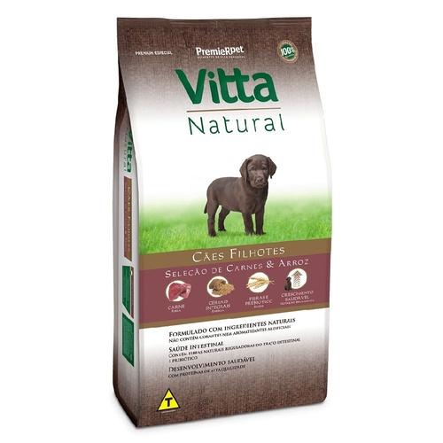 Ração Vitta Natural Filhote Carne 15kg