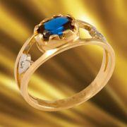 Anel de Formatura em Ouro Amarelo com Brilhantes-Ouro Amarelo -ANF13