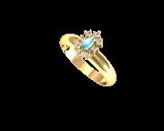 Anel de Formatura em Ouro Amarelo com Brilhantes-Ouro Amarelo- ANF25