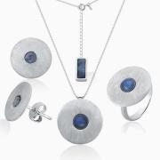Conjunto Coleção Luna em Prata 925