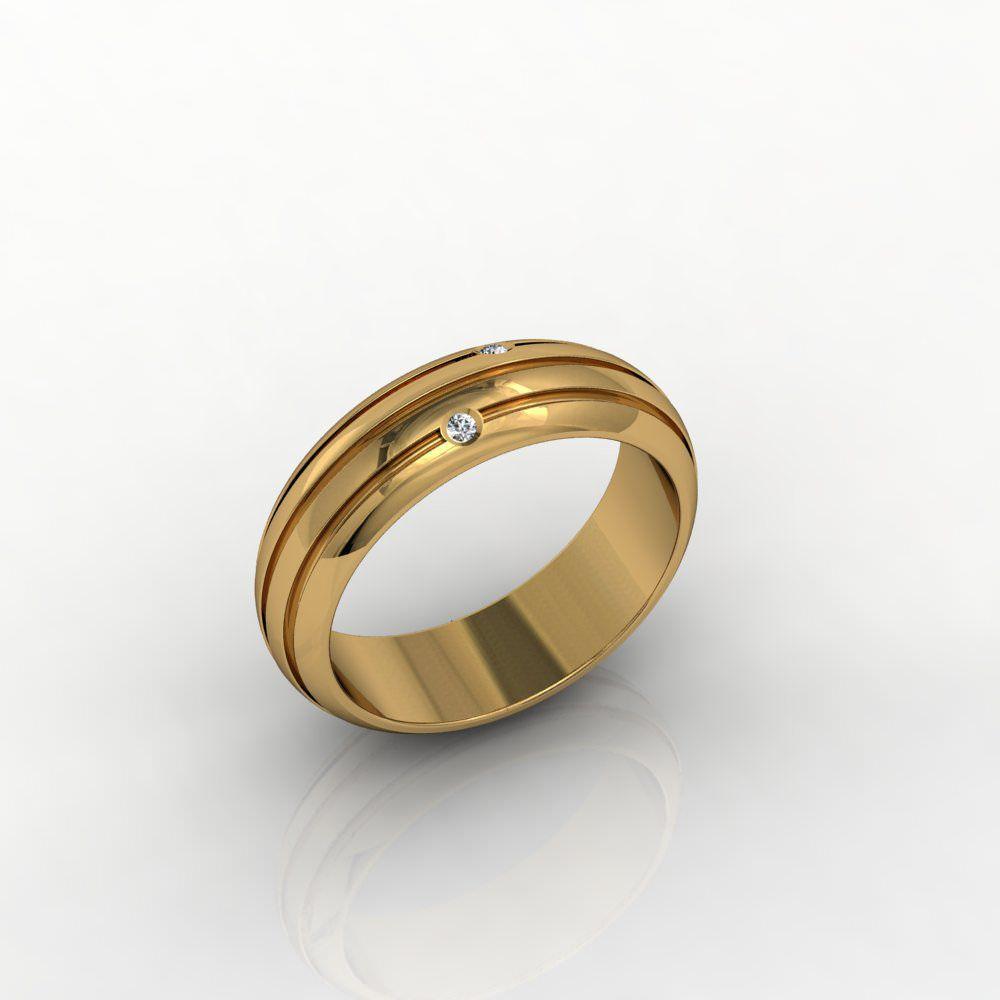 Aliança de Casamento Ouro com Diamante  Di Amarti