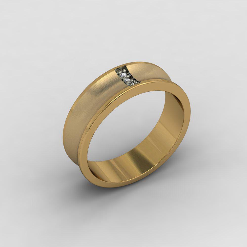 Aliança de Casamento Ouro com Diamante Priorità