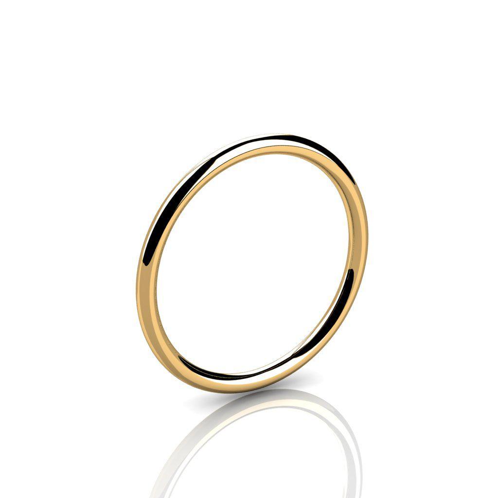 Aliança de Casamento Ouro Amarelo Amore Unito