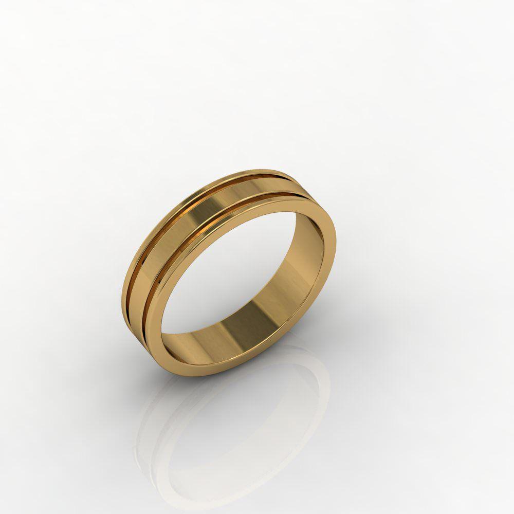 Aliança de Casamento Ouro Amarelo Amor & Fuoco