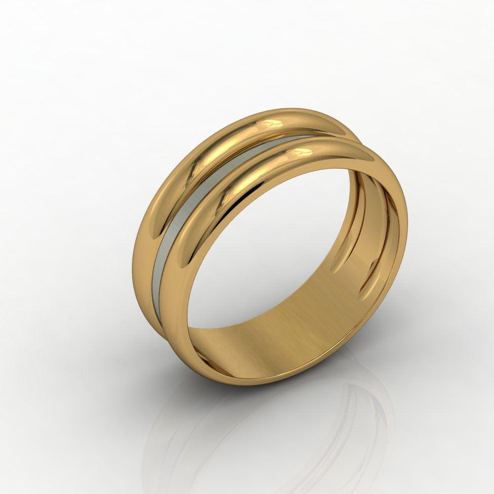Aliança de Casamento Ouro Amarelo Arcobaleno D'Amore