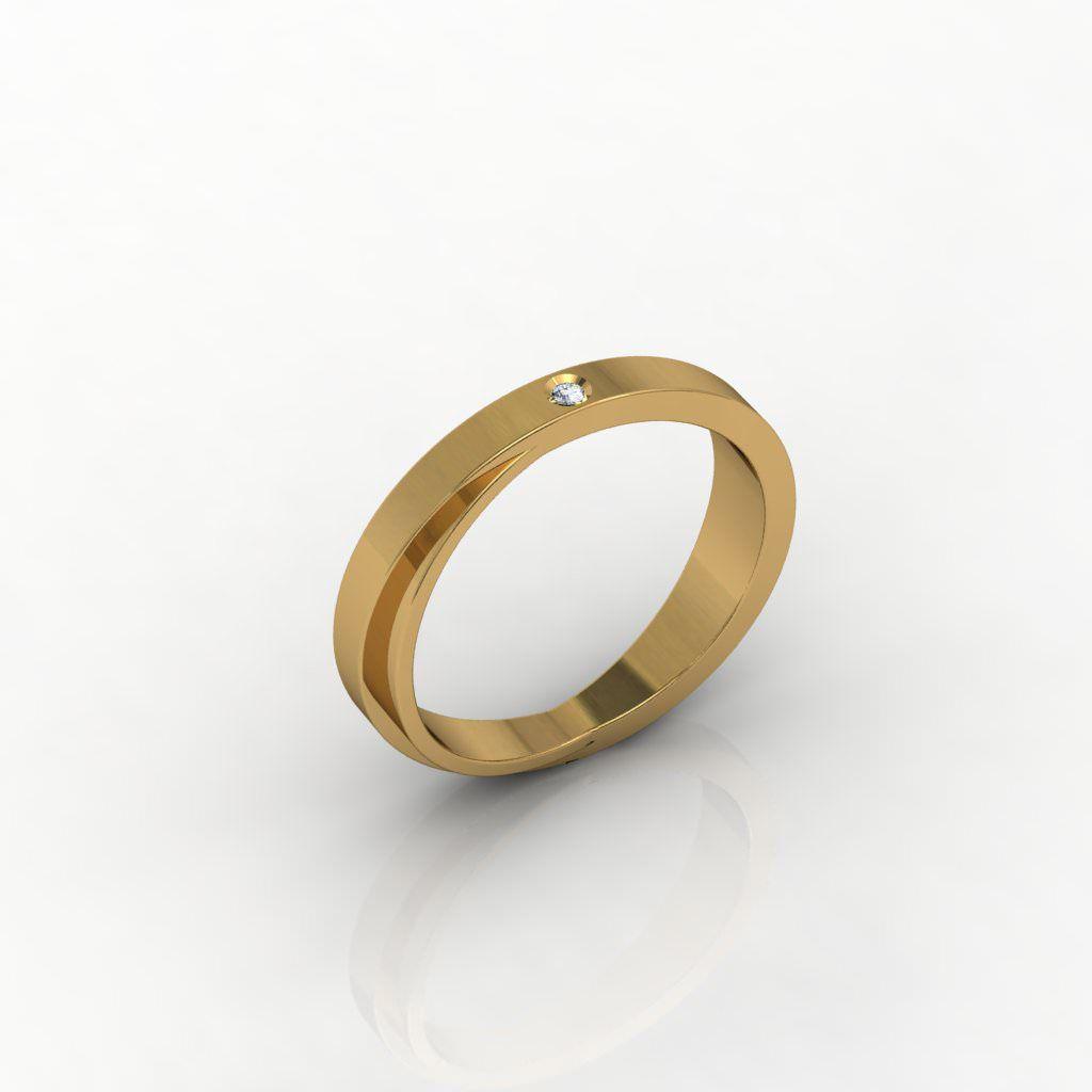 Aliança de Casamento Ouro Amarelo com Diamante Complicitá