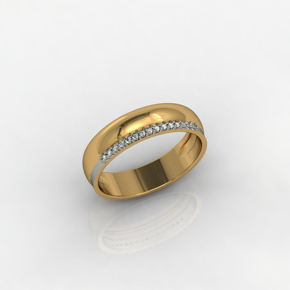 Aliança de Casamento Ouro Amarelo com Diamantes Amore Che Brilla