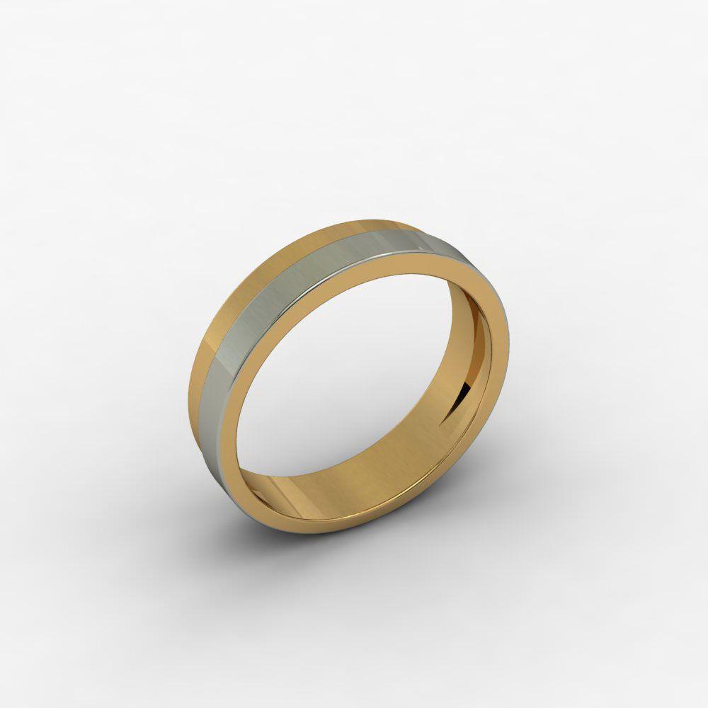 Aliança de Casamento Ouro Amarelo e Ouro Branco Passione