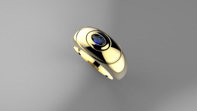 Anel de Formatura em Ouro Amarelo com Brilhantes-Ouro Amarelo - ANF23