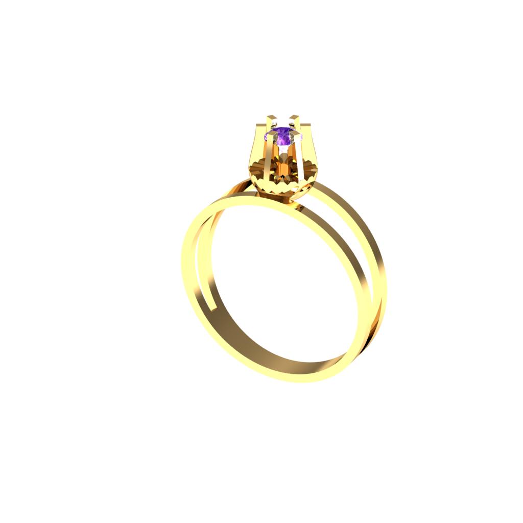 Anel de Formatura em Ouro Amarelo com Brilhantes-Ouro Amarelo - ANF30