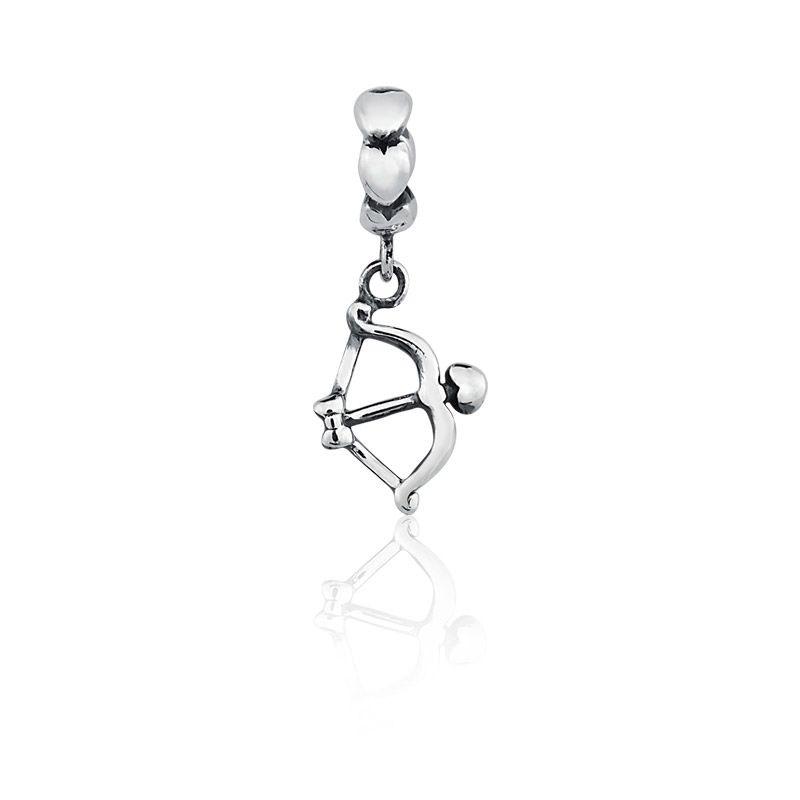 Berloque Pingente Arco do Amor em Prata 925