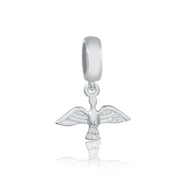 Berloque Pingente Espírito Santo Pequeno em Prata 925