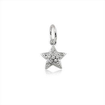 Berloque Pingente Estrela Brilhante em Prata 925