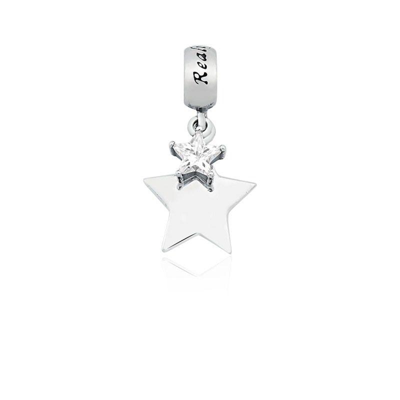 Berloque Pingente Estrela Cadente em Prata 925