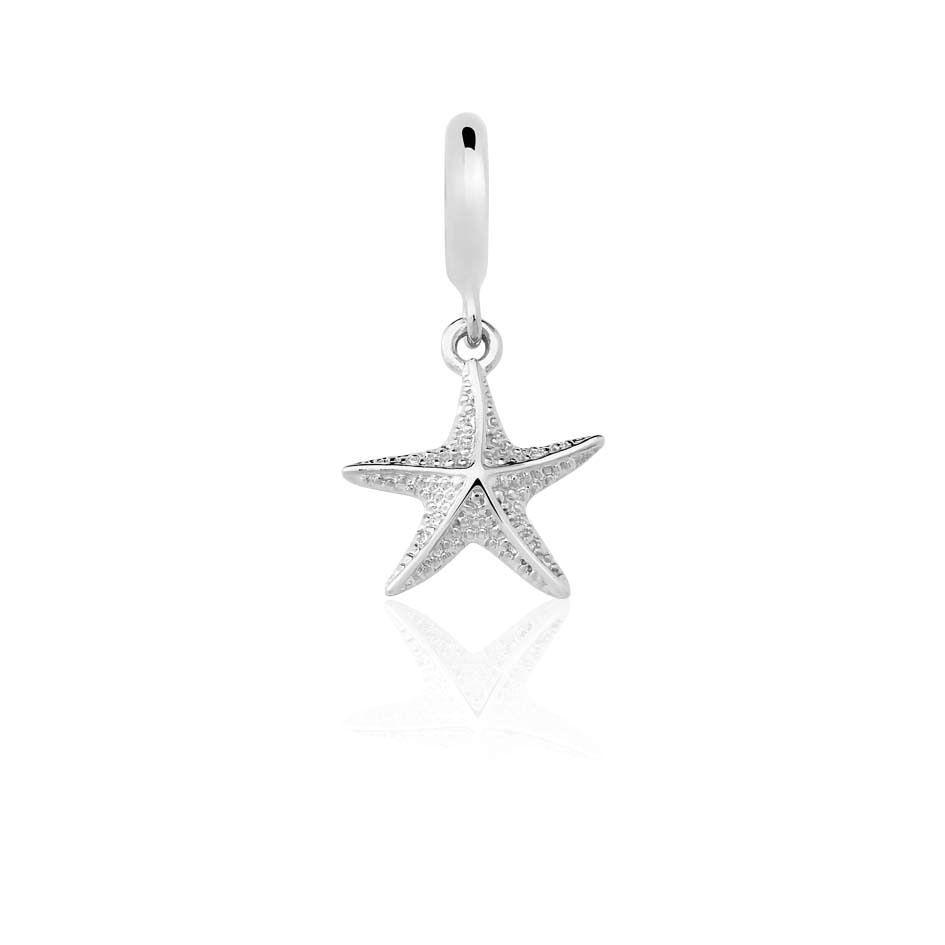 Berloque Pingente Estrela do Mar em Prata 925
