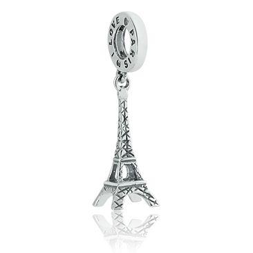 Berloque Pingente I Love Paris em Prata 925