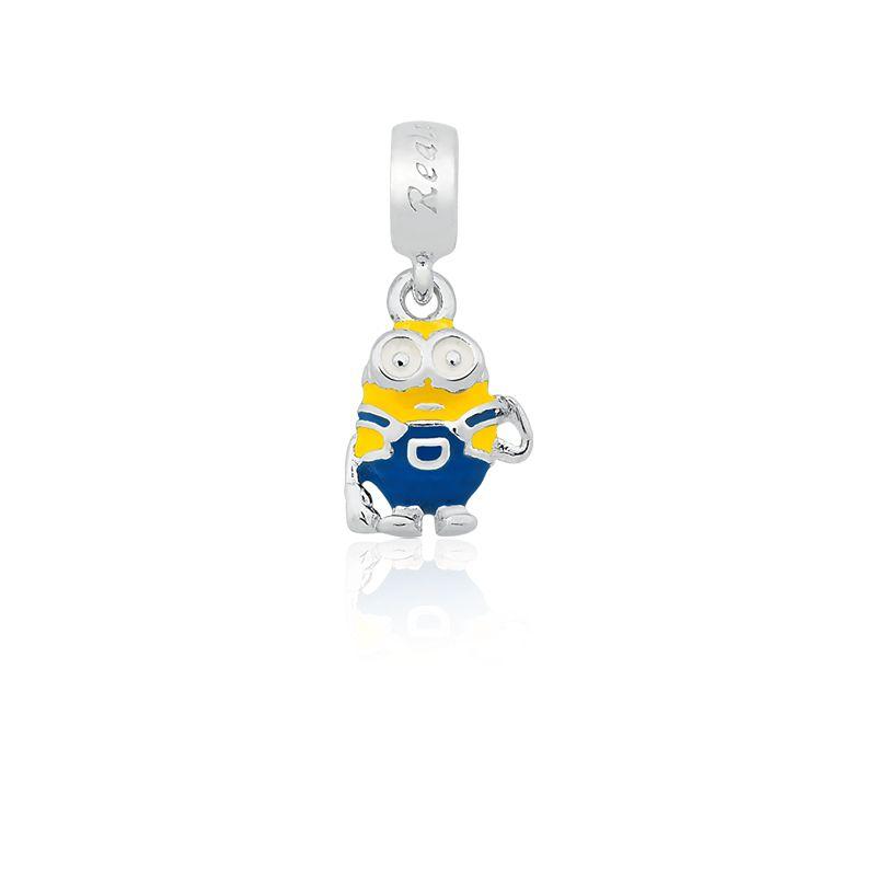 Berloque Pingente Mini Bob em Prata 925  esmaltada