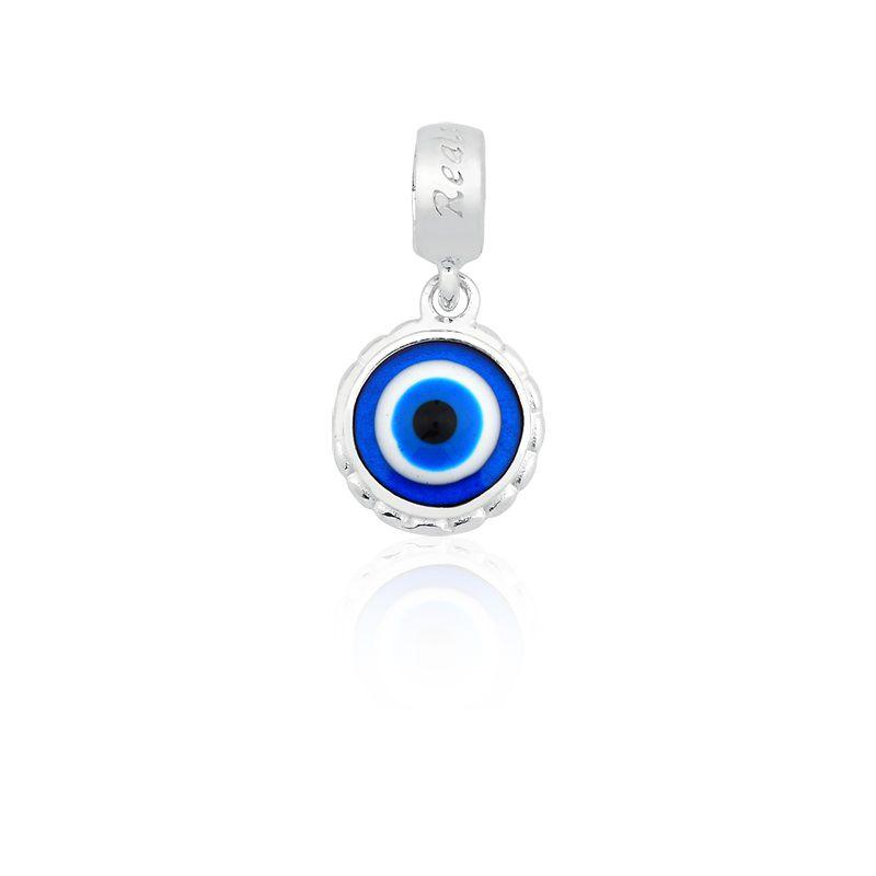 Berloque Pingente Olho Grego em Prata 925 esmaltada