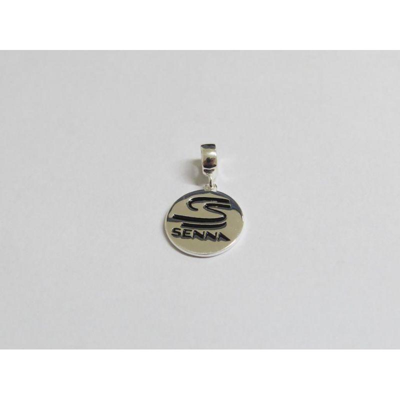 Berloque Pingente Senna em Prata 925 esmaltada