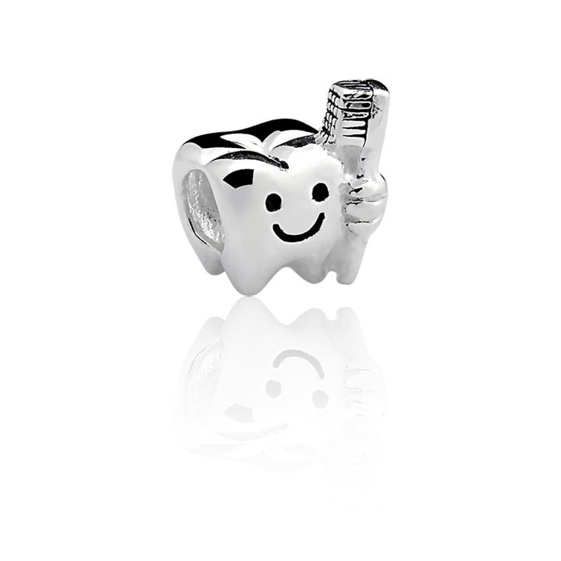 Berloque Separador Odontologia em Prata 925 esmaltada