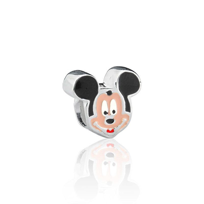 Berloque Separador Ratinho Pequeno em Prata 925 esmaltada
