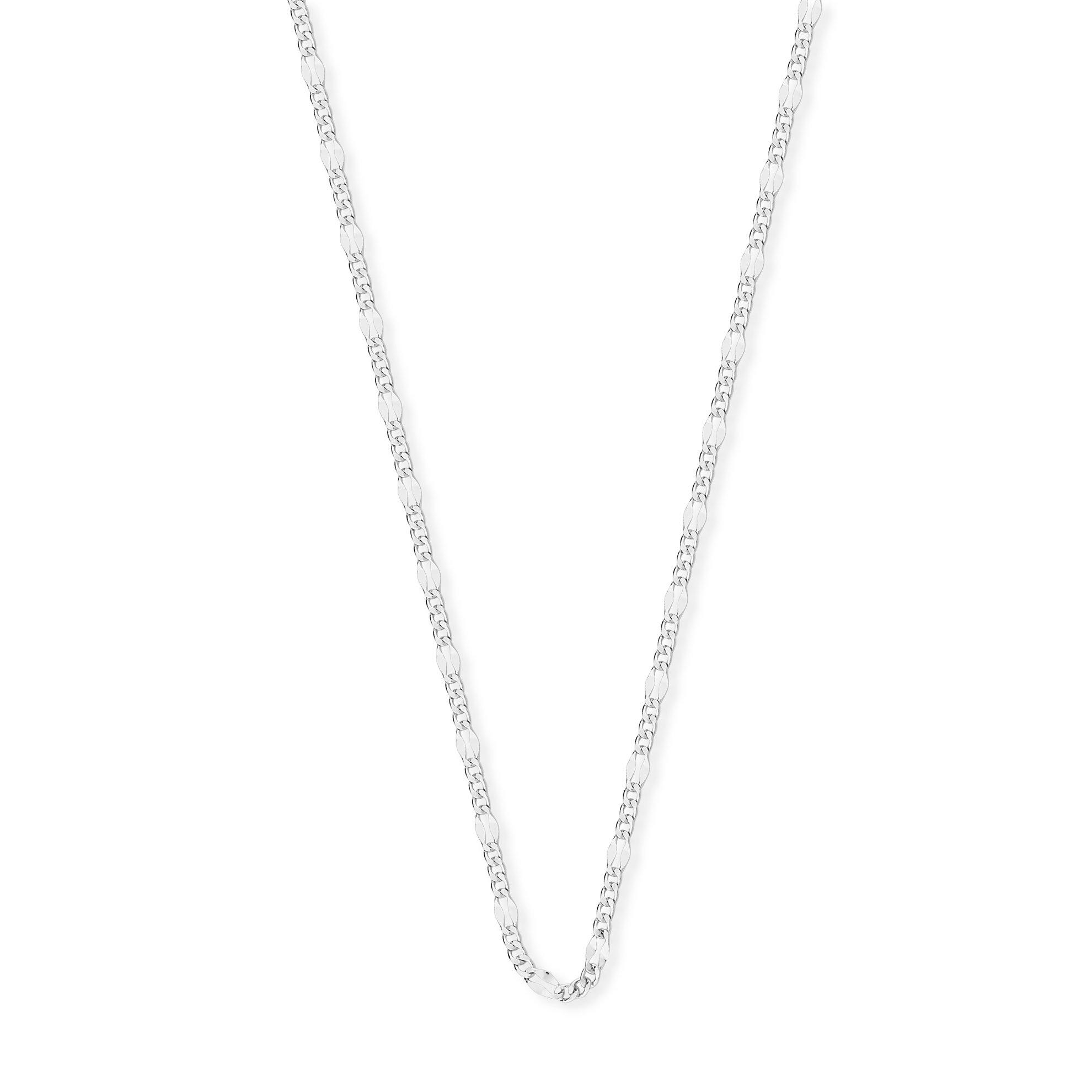 Corrente Groumet 3x1 em Prata 925 60 cm