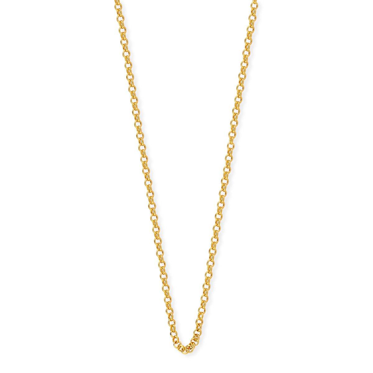 Corrente Portuguesa em Prata 925 banho de ouro 55 cm