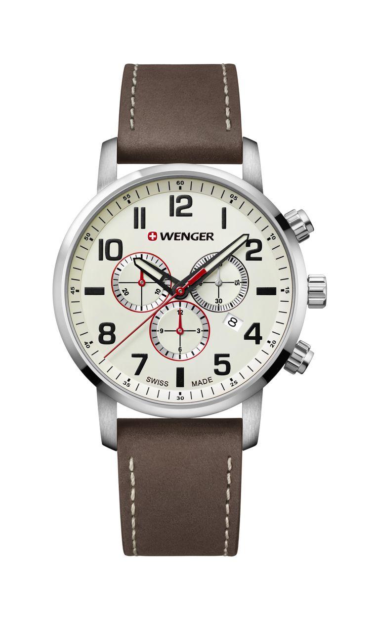 Relógio Wenger Attitude Chrono Marrom - WENATI105