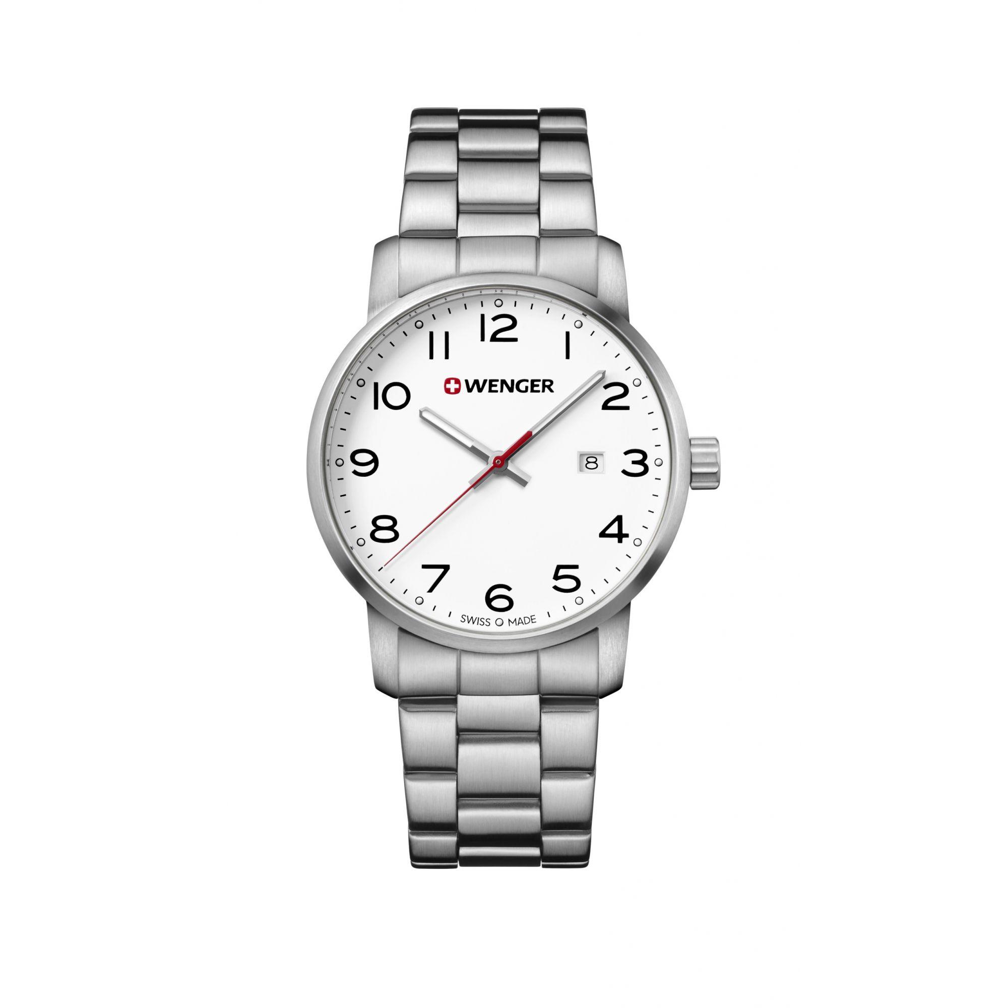 Relógio Wenger Avenue Gent Branco - WENAVE104