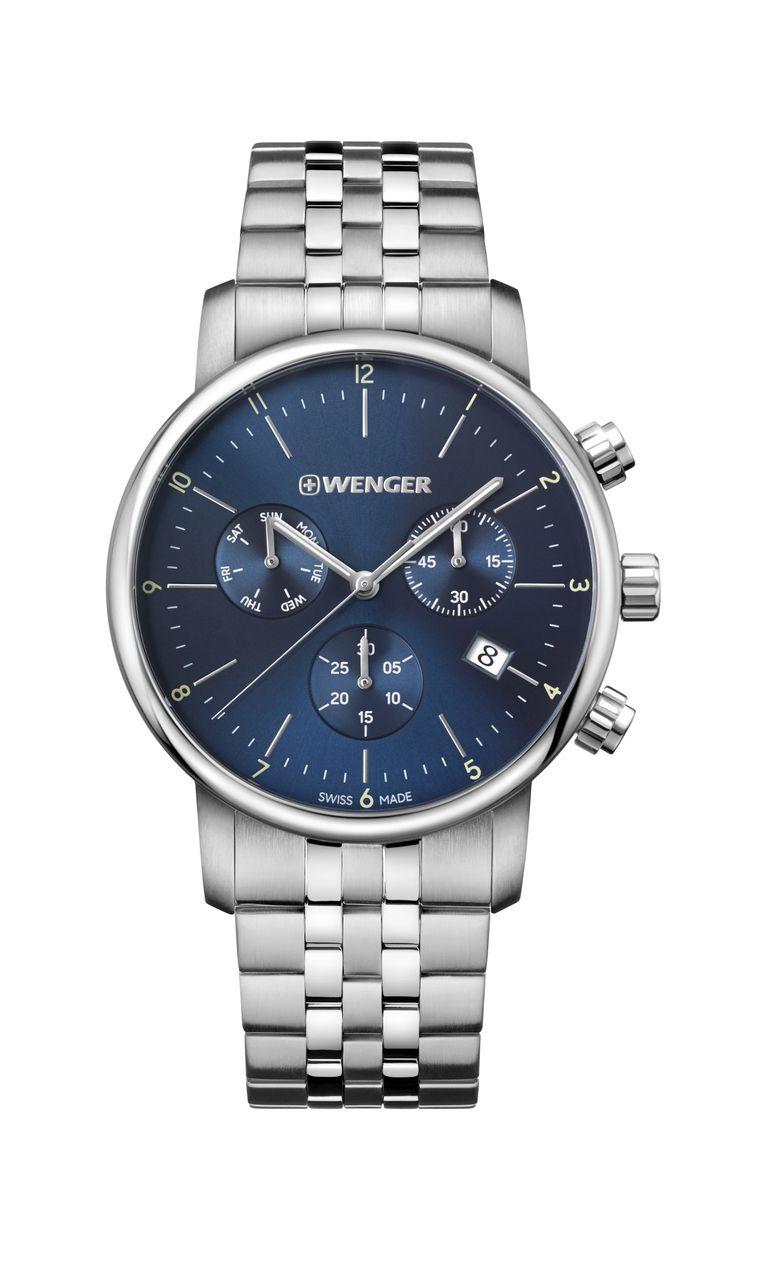 Relógio Wenger Urban Classic Chrono Azul - WENURBC105