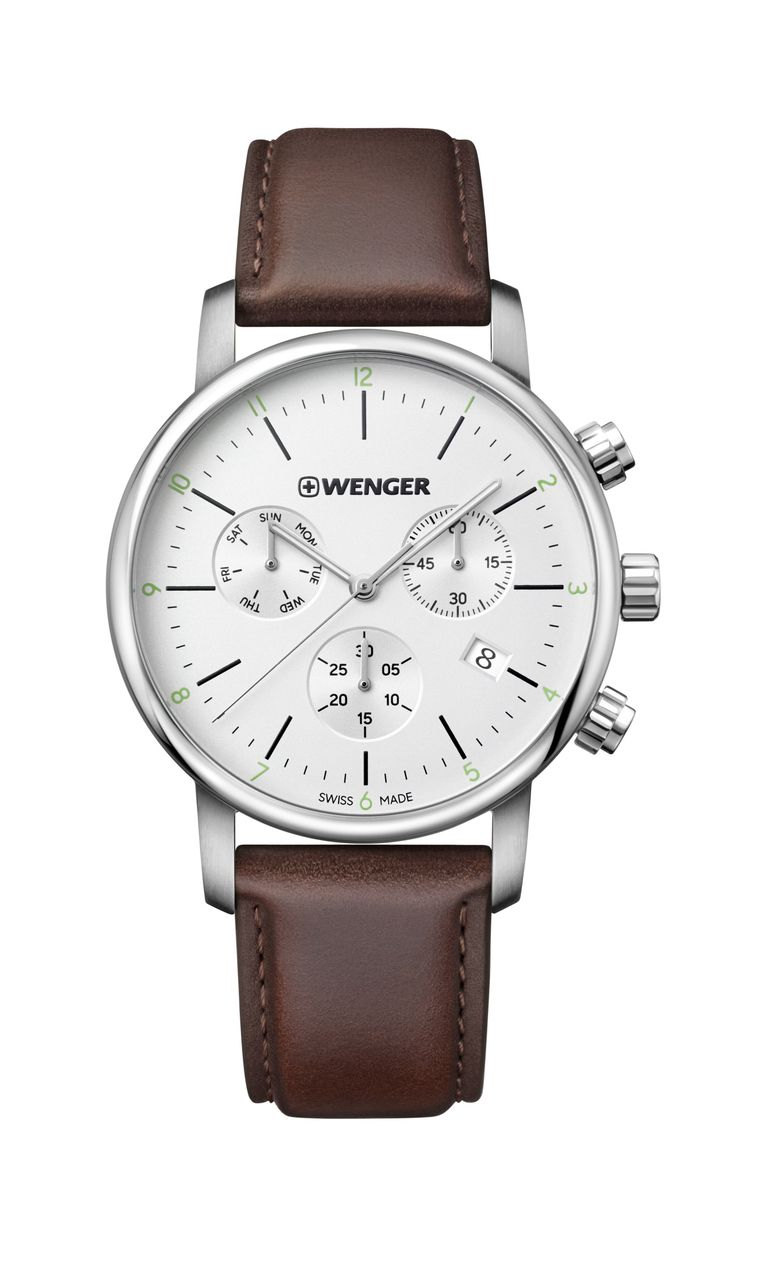 Relógio Wenger Urban Classic Chrono Marrom - WENURB101