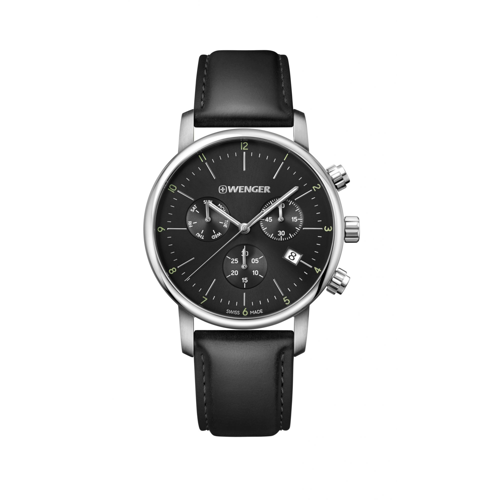 Relógio Wenger Urban Classic Chrono Preto - WENURBC102
