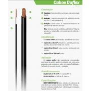FIO CABO DUFLEX INDUSCABOS 750V 10MM VM (PREÇO/METRO)