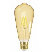 LAMP.LED FILAMENTO VINTAGE AMBAR TASCHIBRA ST64 4W AUTVOLT 11080379