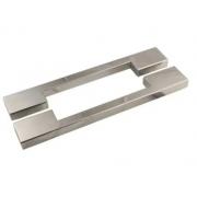 Puxador para Porta Duplo 100cm 2 Peças Big Thin Geris Inox Polido