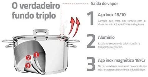 CACAROLA FUNDA ACO INOX BRAVA TRAMONTINA 62404/200