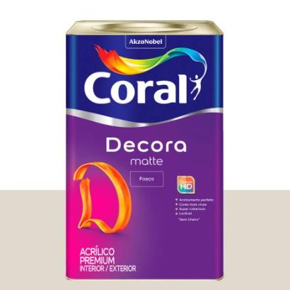 DECORA FOSCO CORAL 18L BR.GELO 5239243