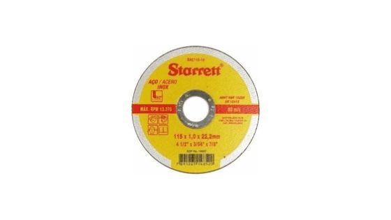 "DISCO CORTE INOX STARRET 4.1/2"" DAC115-14"