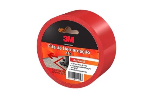 FITA DE DEMARCAÇÃO VERMELHA 3M 50X30