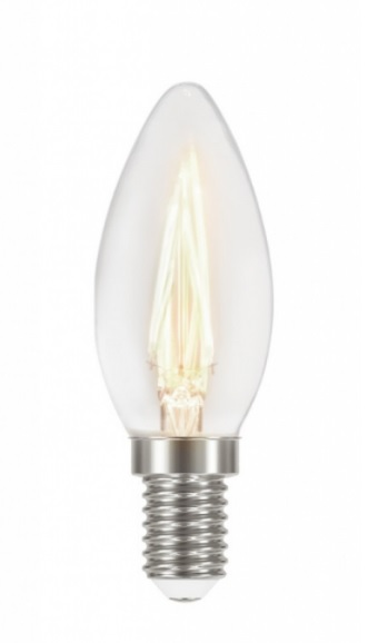 LAMP.LED FILAMENTO VELA TASCHIBRA C35 220V 2700K E-14 C/ADAPT 11080376