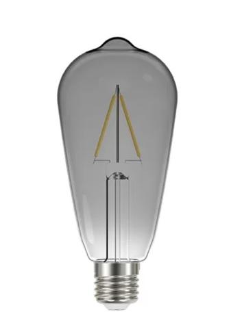 LAMPADA LED FILAMENTO VINTAGE TASCHIBRA FUME ST64 3W AUTOVOL 11080491