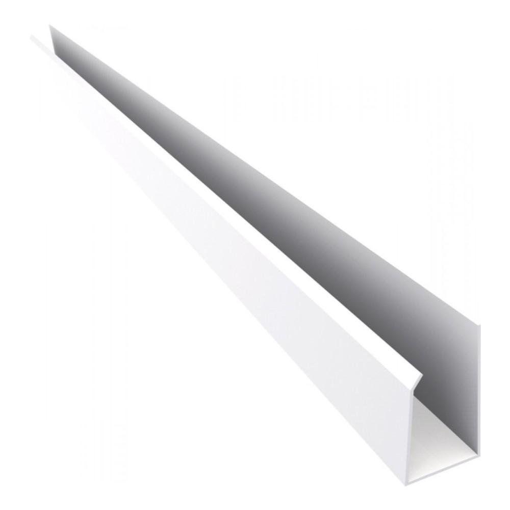 PERFIL U C/6,00MT PVC PERFILPLAST P/FORRO 100MM 2.201.0016