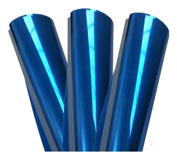 PELÍCULA AZUL REFLETIVO 10% 0,75 (largura) x 7,5 (comprimento)