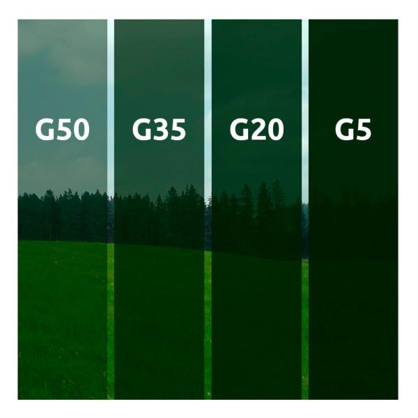PELÍCULA G35 -TINTADO VERDE 0,75 (largura) x 30,00 (comprimento)