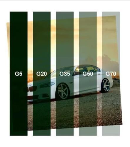 PELÍCULA G35 -TINTADO VERDE 1,52 (largura) x 15,00 (comprimento)