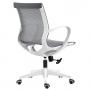 Cadeira Diretor Pixel Cinza Com Estrutura Branca