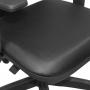 Cadeira Executiva Blass Seda Sintética Em Tela Preta